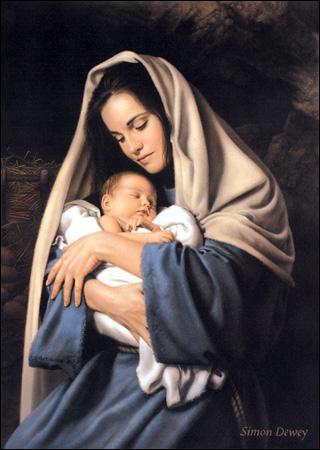 mary jesus sleeps